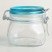 Medium Sky Blue Fido Clamp Jars, Set of 6