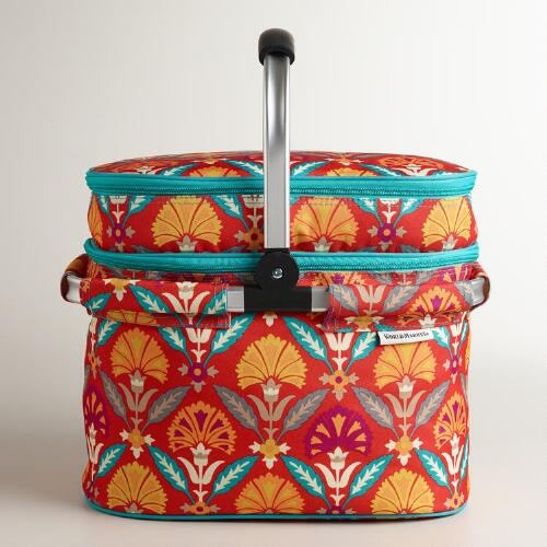 Samantha Insulated Double-Decker Tote Bag with Blanket