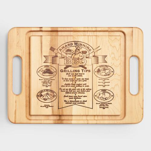 Maple Wood Barbecue Trencher Cutting Board