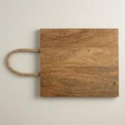 Wood Cutting Board with Rope Handles