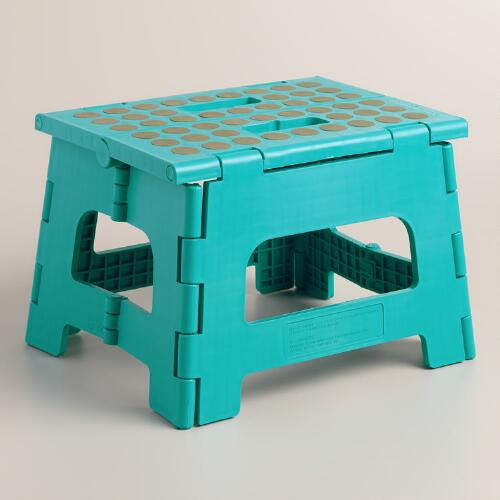 Peacock Blue Kikkerland Foldable Stepstool