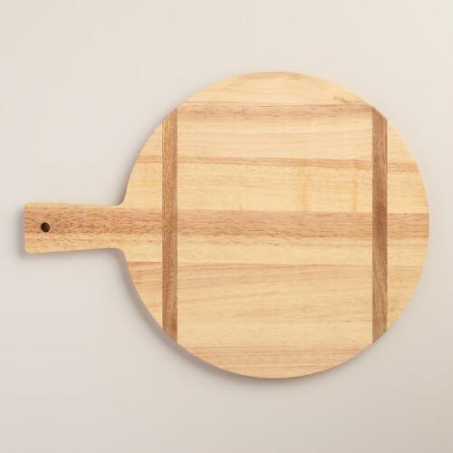 Round Wood Bread Cutting Board