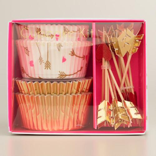 Hearts and Arrows Cupcake Kit