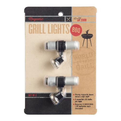 Mini Magnetic Grill Lights, 2-Pack