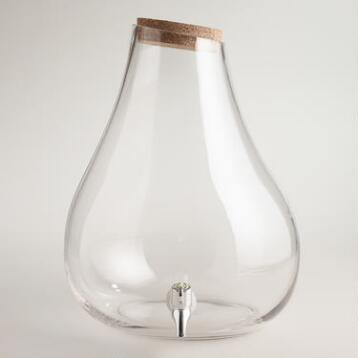 Large Glass Teardrop Drink Dispenser