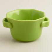 Mini Green Round Bakers, Set of 4
