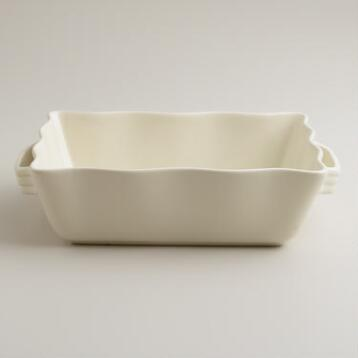 Medium Ivory Ceramic Baker