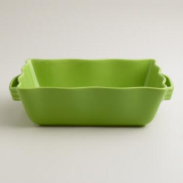 Medium Green Ceramic Baker