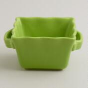 Mini Green Square Bakers, Set of 4