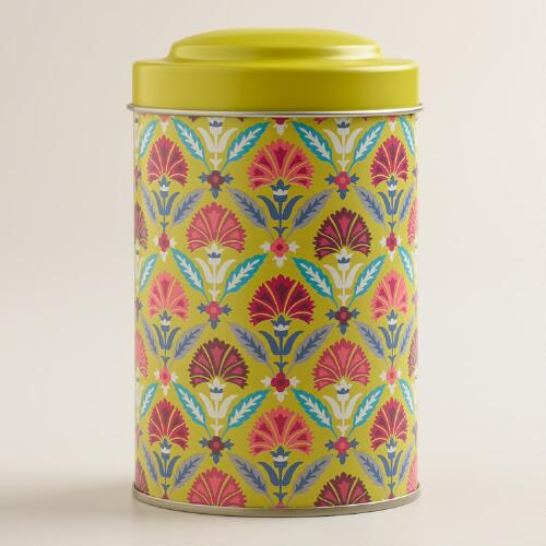 Apple Green Samantha Tea Tins, Set of 4