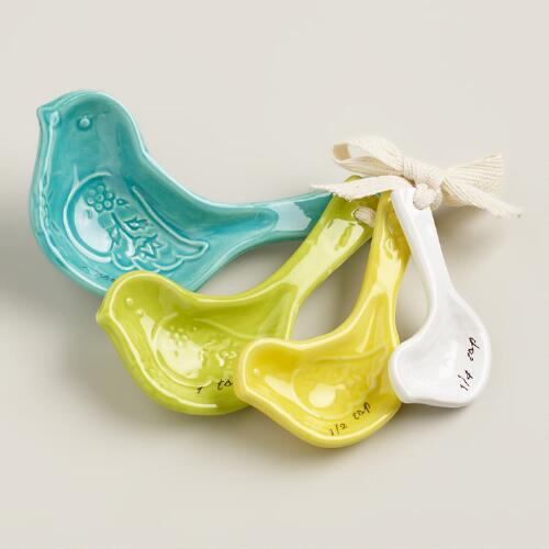 Spring Bird Ceramic Measuring Spoons