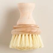 Tampico Bristle Wood Knob Vegetable & Dish Brushes, Set of 2