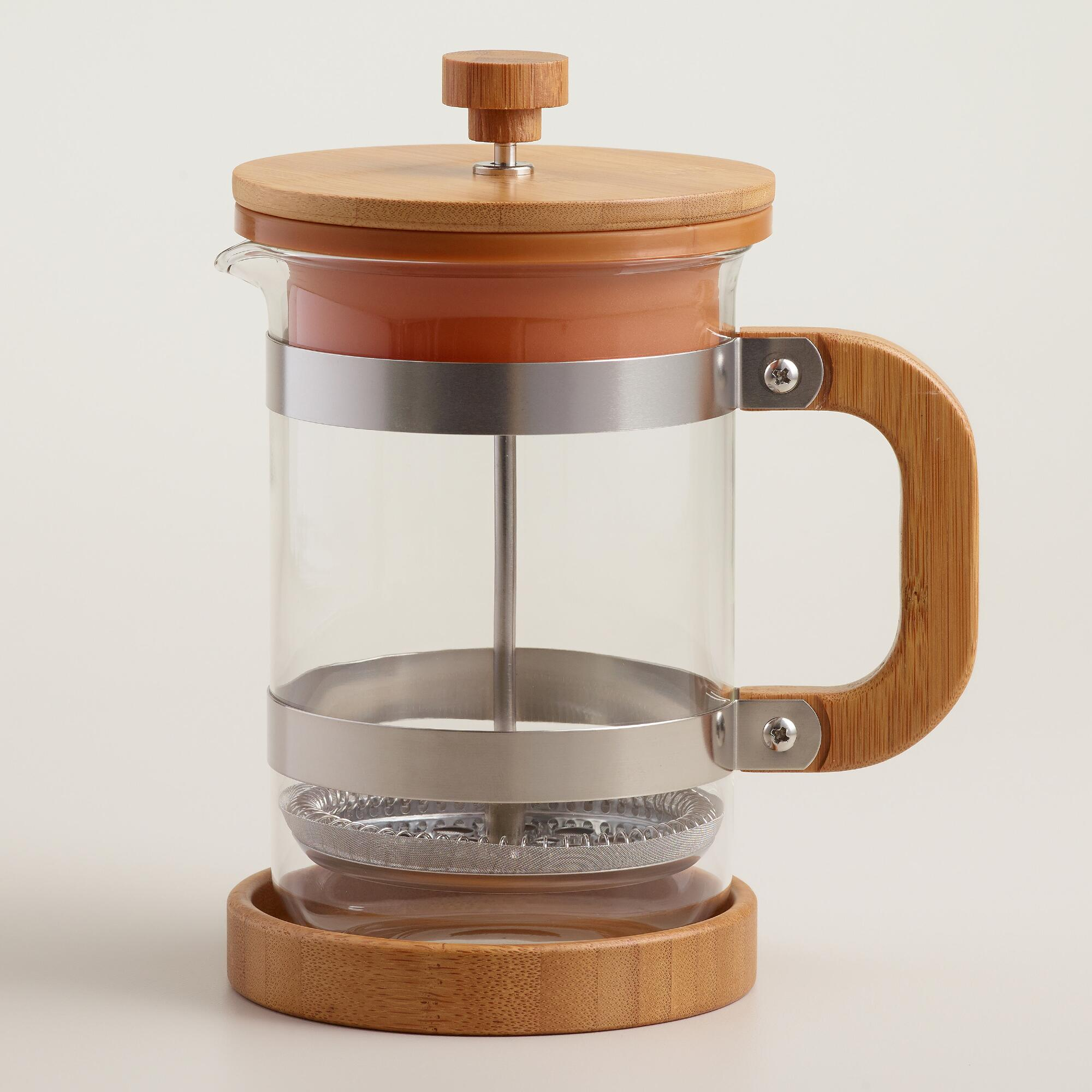 Coffee Maker Vs French Press : Bamboo French Press Coffee Maker World Market