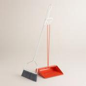Coral Long Handle Smiley Dustpan