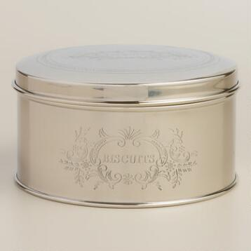 Stainless Steel Biscuits Tin