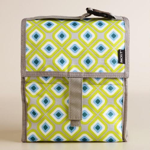 Geometric PackIt Freezable Lunch Bag
