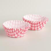 Bright Pink Gingham Baking Cups, 50-Count