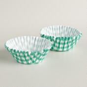 Lagoon Blue Gingham Baking Cups, 50-Count