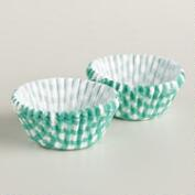 Mini Lagoon Blue Gingham Baking Cups, 75-Count