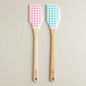 Gingham Spatulas, Set of 2