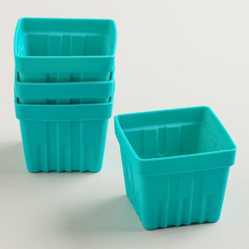 Silicone Berry Basket Muffin Baking Cups, 4-Pack
