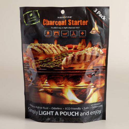 Insta-Fire Charcoal Briquette Starter Pouches, 3-Pack