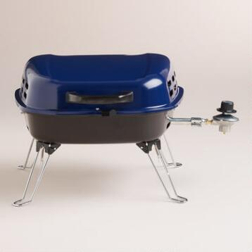 Mini Blue Portable Propane Barbecue Grill