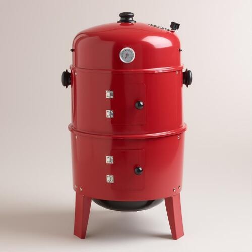 Red Charcoal Smoker