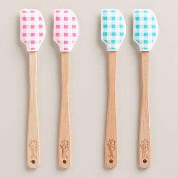 Mini Gingham Spatulas, Set of 4
