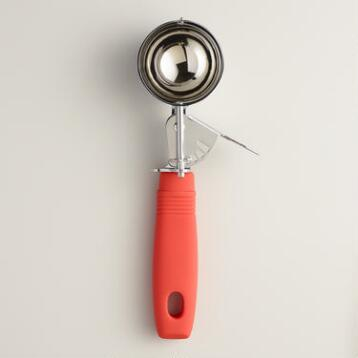Poinciana Red Retro Ice Cream Scoop