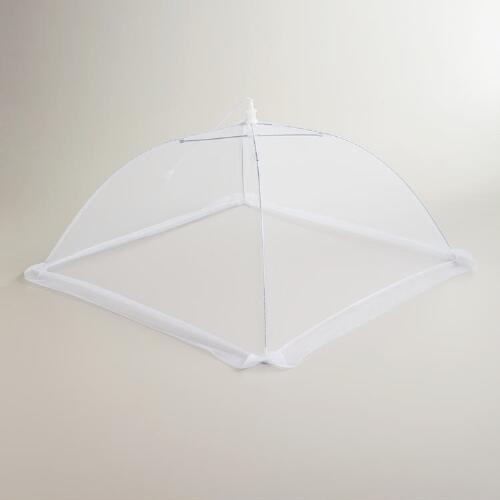White Mesh Collapsible Food Tent
