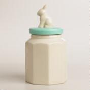 Ceramic Bunny Jar, Set of 2