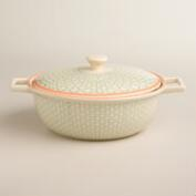 Stamped Ceramic Baker