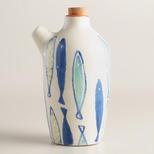 Mod Fish Terracotta Oil Bottle