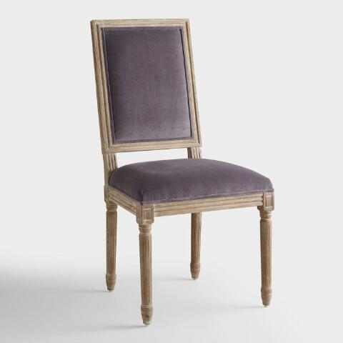 Plum Velvet Paige Square Back Dining Chairs Set Of 2 World Market