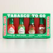 Tabasco Mini To-Go Travel Pack Sauces, 4-Pack