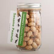 Loretta's Country Kitchen Crunchy Sesame Peanuts in Jar