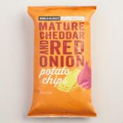 World Market® Mature Cheddar & Red Onion Kettle Potato Chips