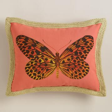 Spotted Moth Outdoor Lumbar Pillow