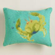 Crab Outdoor Lumbar Pillow