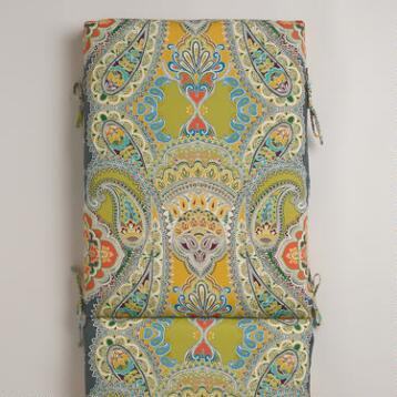 Venice Paisley Chaise Lounger Cushion