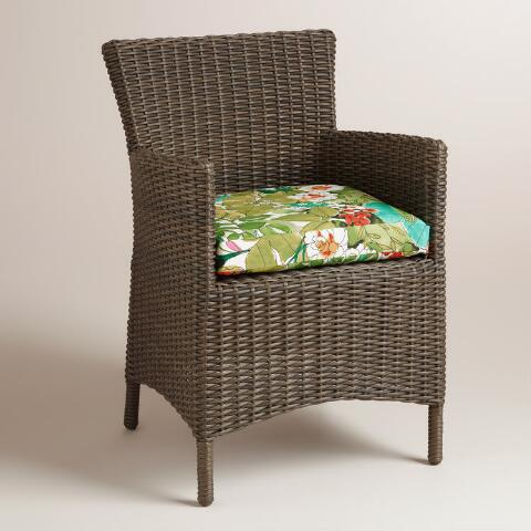 fiji foliage gusseted outdoor chair cushion world market. Black Bedroom Furniture Sets. Home Design Ideas
