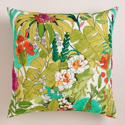 Fiji Foliage Outdoor Throw Pillow