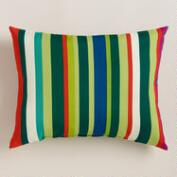 Fiji Sunrise Stripe Outdoor Lumbar Pillow