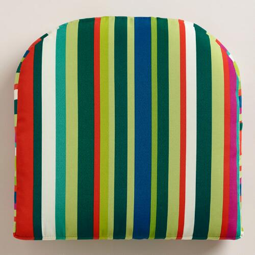 Fiji Sunrise Stripe Gusseted Outdoor Chair Cushion