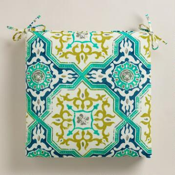 Sufi Tiles Outdoor Chair Cushion
