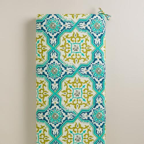 Sufi Tiles Outdoor Bench Cushion