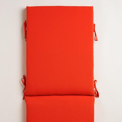 Orange Chaise Lounger Cushion