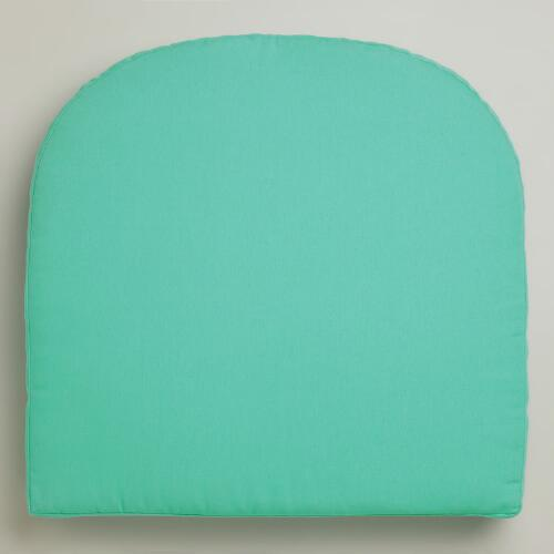 Aqua Gusseted Outdoor Chair Cushion