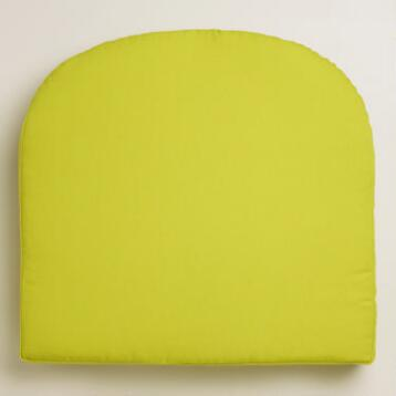 Green Gusseted Outdoor Chair Cushion